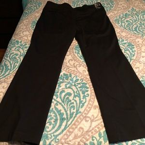 NWT NY&Co Black Ponte Dress Pants